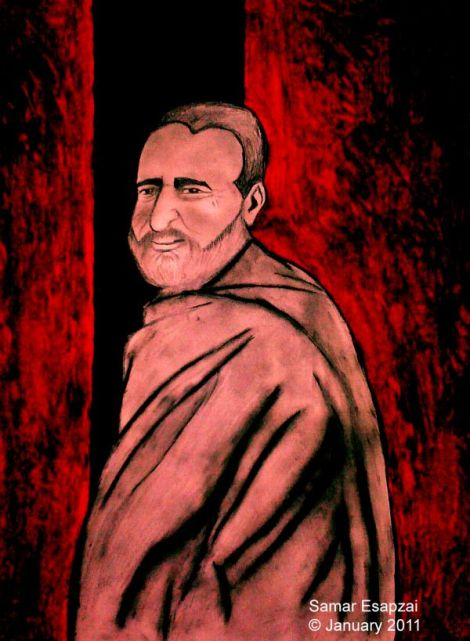 My painting of Khan Abdul Ghaffar Khan