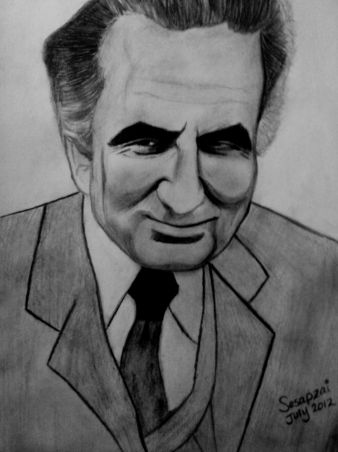 My drawing of Ghani Khan