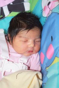 Zohal when she was only two days old. Gosh, how I miss how teeny tiny she was! <3