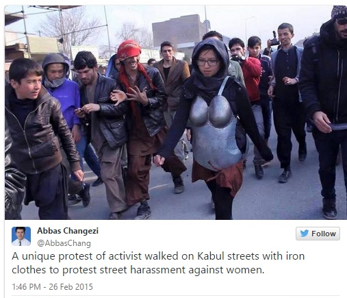 afghan woman in armour