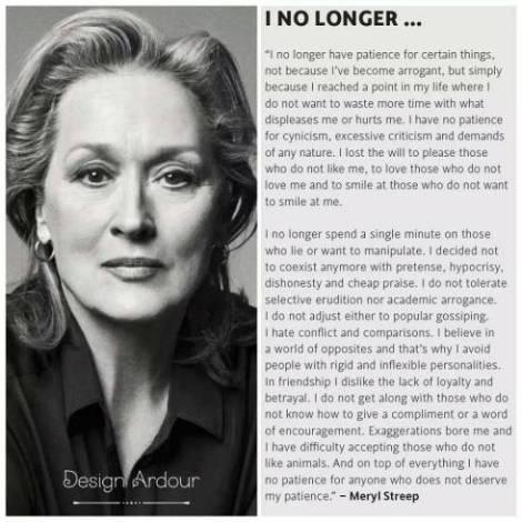 Merryl Streep rocks.