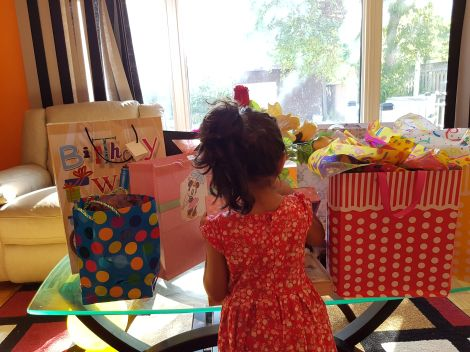 My zaRgaye opening her gifts the day after her awesome birthday bash. Totes felt like Xmas morning! :D